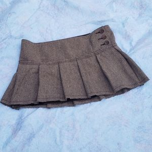 Hollister Y2K Tweed Pleated Mini